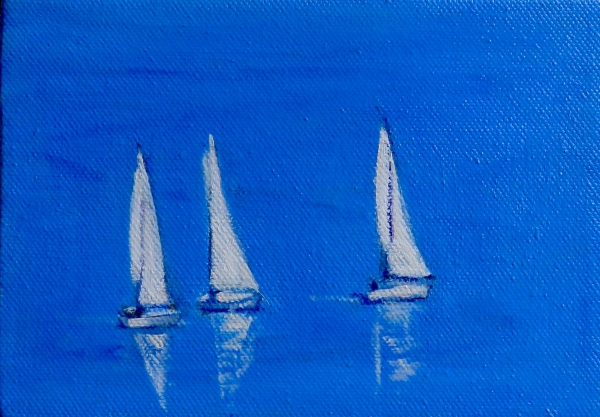 Three White Sails